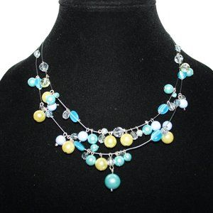 Beautiful layered pearl necklace adjustable